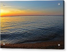 Sunset Near Chesapeake Bay Bridge Acrylic Print