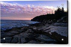 Sunset Near Otter Cliffs Acrylic Print