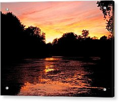 Acrylic Print featuring the photograph Sunset Near Rosemere - Qc by Juergen Weiss