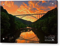 Acrylic Print featuring the photograph Sunset New River Gorge by Dan Friend