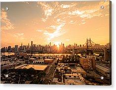 Sunset - New York City Skyline Acrylic Print by Vivienne Gucwa