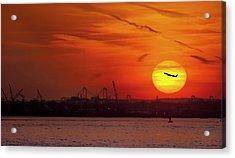 Sunset: New York Harbor Acrylic Print