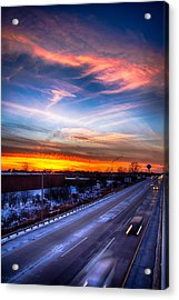 Sunset North Of Chicago 12-12-13 Acrylic Print