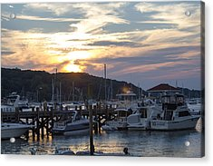 Sunset Northport Dock Acrylic Print