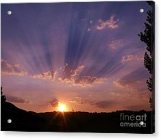 Sunset Of Dreams Acrylic Print by Jacquelyn Roberts