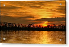Sunset - Ohio River Acrylic Print