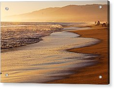 Sunset On A Beach Acrylic Print