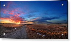 Sunset On Aa Road Acrylic Print by Rod Seel