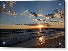 Sunset On Alys Beach Acrylic Print by Julia Wilcox