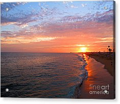 Sunset On Balboa Acrylic Print