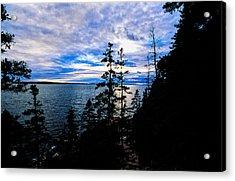 Sunset On Bass Harbor Acrylic Print