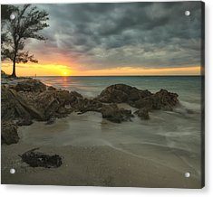 Sunset On Bean Point Acrylic Print
