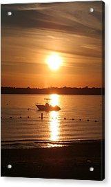 Sunset On Boat Acrylic Print