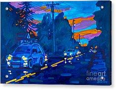 Sunset On Branch Avenue Acrylic Print by Michael Ciccotello