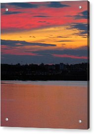 Sunset On Casco Bay Maine Acrylic Print