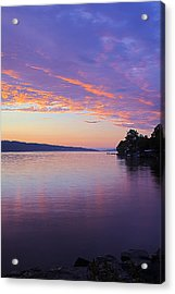 Sunset On Cayuga Lake Cornell Sailing Center Ithaca New York IIi Acrylic Print