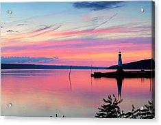 Sunset On Cayuga Lake Ithaca New York Acrylic Print