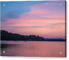 Sunset On Chickawaukee Lake Acrylic Print by Ernest Puglisi
