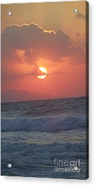 Sunset On Crete Acrylic Print