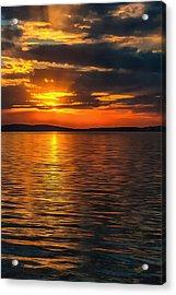 Sunset On Degray Lake Acrylic Print