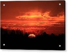 Sunset On Fire  Acrylic Print by Reid Callaway