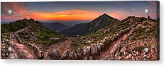 Sunset On Franconia Ridge Acrylic Print