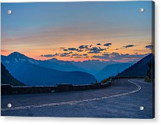 Sunset On Going-to-the-sun Road Acrylic Print