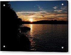 Sunset On Halfmoon Acrylic Print by Mim White