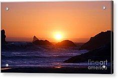 Sunset On Harris Beach Acrylic Print by Irina Hays