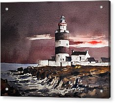 Sunset On Hook Head Wexford Acrylic Print