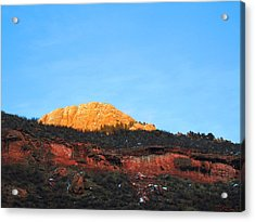 Sunset On Horsetooth Mountain Acrylic Print by Ric Soulen
