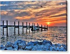 Sunset On Islamorada 2 Acrylic Print by Mel Steinhauer