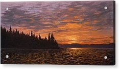 Sunset On Kayak Point Acrylic Print