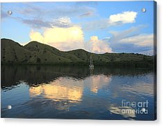Sunset On Komodo Acrylic Print by Sergey Lukashin