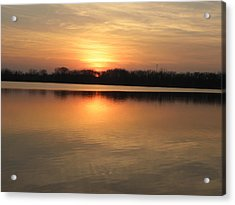 Sunset On Lake Acrylic Print