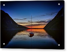 Sunset On Lake Willoughby Acrylic Print