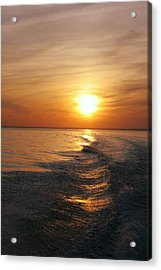 Acrylic Print featuring the photograph Sunset On Long Island Sound by Karen Silvestri