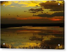Sunset On Medicine Lake Acrylic Print