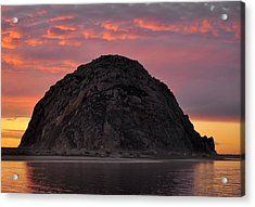 Sunset On Morro Rock Acrylic Print