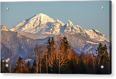 Sunset On Mount Baker Acrylic Print