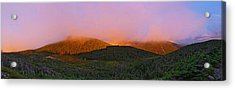 Sunset On Mount Lafayette Acrylic Print by Gordon Ripley