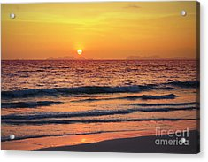 Sunset On Phiphi Island Acrylic Print