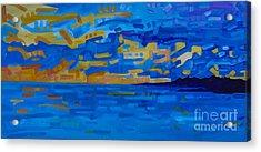 Sunset On Raritan Bay Acrylic Print by Michael Ciccotello