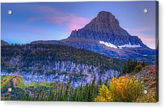 Sunset On Reynolds Mountain Acrylic Print