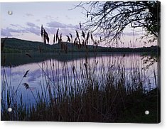 Sunset On Rockland Lake - New York Acrylic Print by Jerry Cowart