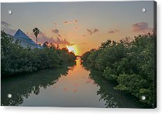 Sunset On Sarasota Bay Acrylic Print