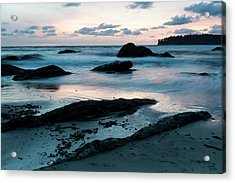 Sunset On Second Beach, Olympic Acrylic Print