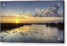 Sunset On The Ashley Acrylic Print