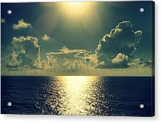Sunset On The Atlantic Ocean Acrylic Print by Paulo Guimaraes