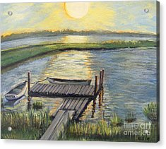 Sunset On The Bay Acrylic Print by Rita Brown